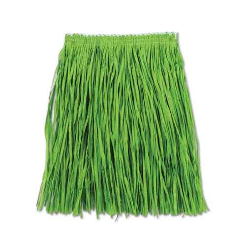 t Mini Hula Skirt for Halloween Party, 36-Inch Width by 16-Inch Length (Band Raffia)