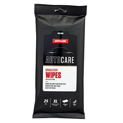 Premium XL Upholstery Auto Care Wipes - Works On Carpet and Upholstery Allergen Free Fabric - Flat Pouches Ideal for Car Care (Upholstery Wipes - with Active Foam): Automotive