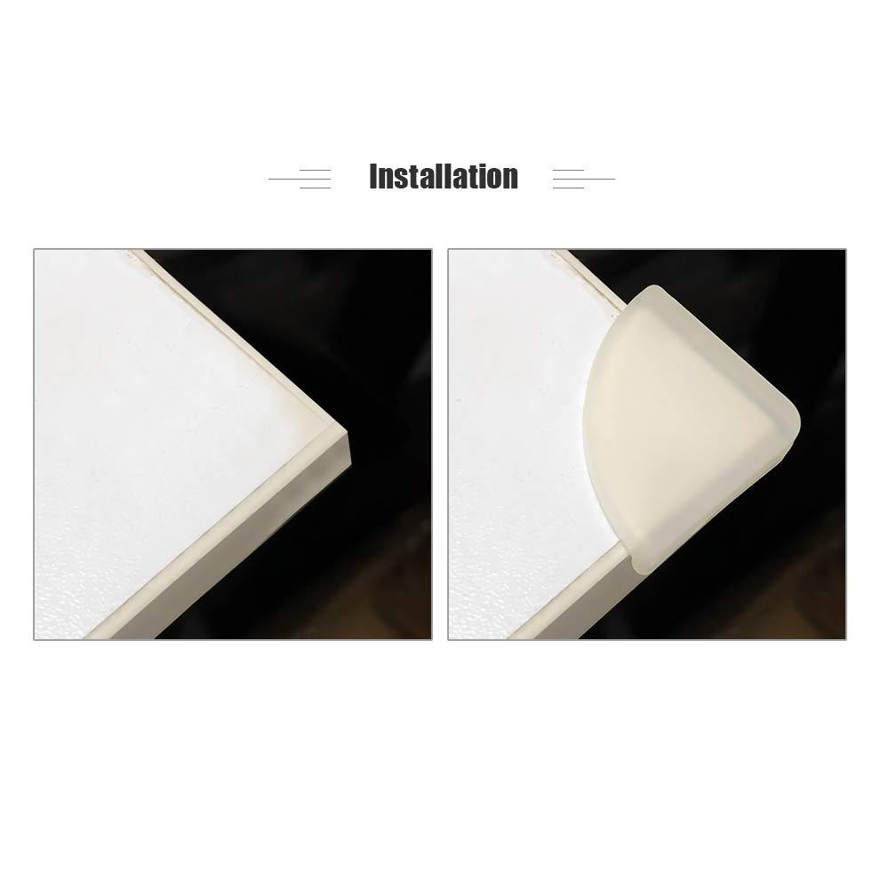 Festnight 4 PCS B/éb/é S/écurit/é Silicone Bord De Table Protecteur Angle Protection De Coin Couverture Anticollision Bureau Bord Guards