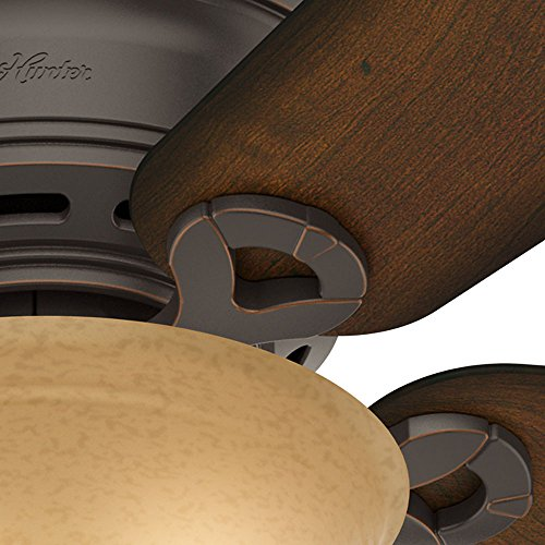 Hunter 51023 Conroy 42-Inch Onyx Bengal Ceiling Fan with Five Burnished Mahogany Blades and a Light Kit by Hunter Fan Company (Image #2)