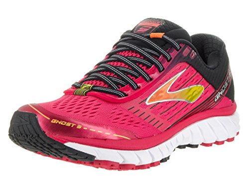 Brooks Ghost 9, Zapatos para Correr para Mujer Azalea/Black/Cyber Yellow