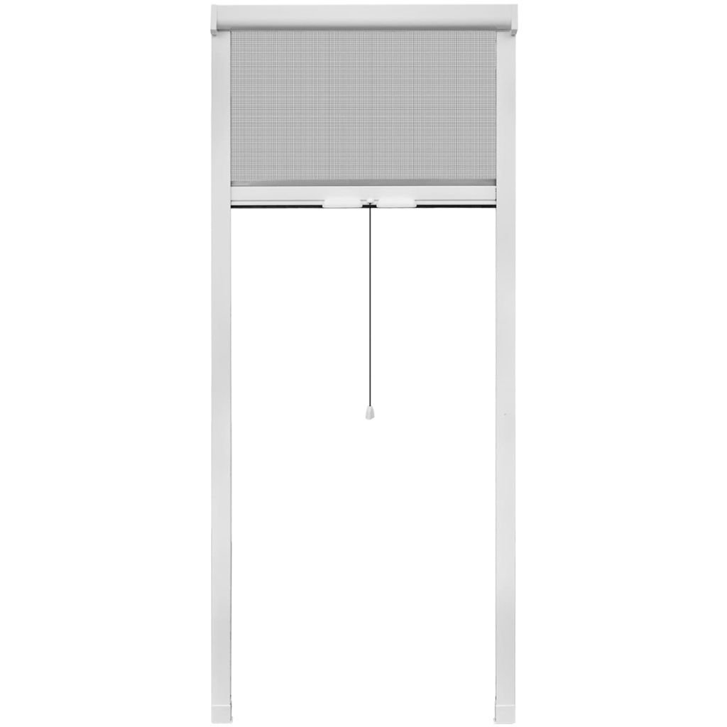vidaXL Mosquitera Red Enrollable Fina Ventanas 80x170 cm Malla Anti Mosquitos