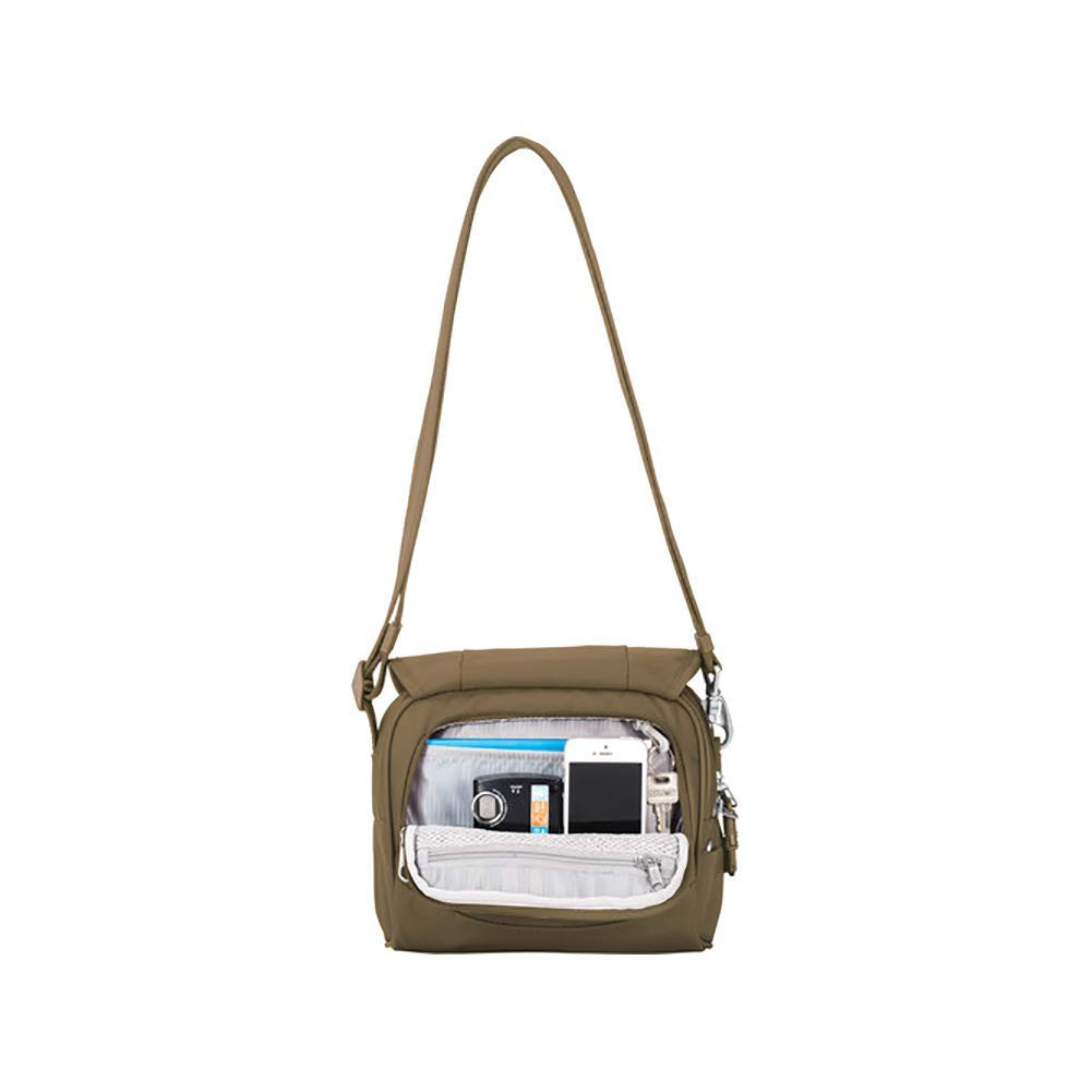 PacSafe Metrosafe Ls140 Anti-Theft Compact Shoulder Travel Cross-Body Bag, Earth Khaki, One Size by Pacsafe (Image #3)