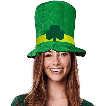 ANLW Trébol Verde irlandés Terciopelo Sombrero Partido ...