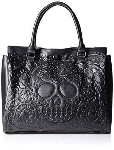 Loungefly Lattice Skull Tote Shoulder Bag, Black, One Size from Loungefly