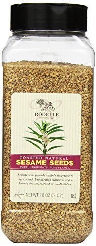 Rodelle Toasted Natural Sesame Seeds, 18 Ounce by Rodelle