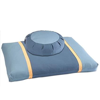 Dharmacrafts Zafu And Zabuton Set Zzset Meditation Cushions Zen Home Dharma Design Sacred Spaces Ocean Moon2