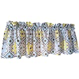 Yellow Crutain Valance for Windows -Crabtree Collection- Yellow Smal Tile (16 x 60) For Sale