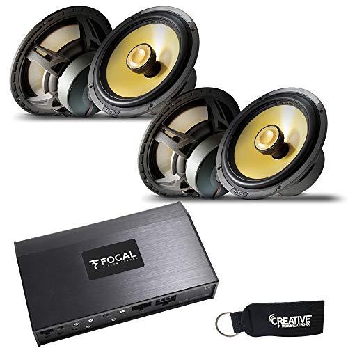 "Focal FDPSport 4 Channel Powersport & Motorcycle Amplifier & Two Pairs of EC165K 6.5"" K2 Power Coaxial Speakers"