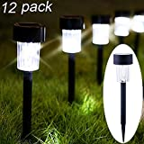 Maggift 12 Pack Solar Pathway Lights Solar Garden Lights Outdoor Solar Landscape Lights for Lawn,...