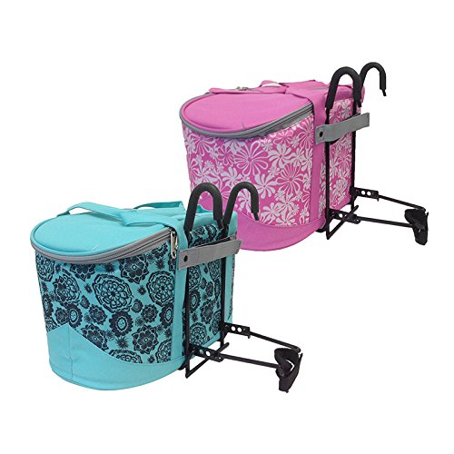 Huffy Quick Release Front Handlebar Bicycle Bike Cycling Portable Lift Off Basket with Canvas Insulated Bag Cooler