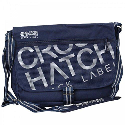 Crosshatch - Bolso al hombro para hombre Azul azul