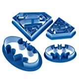 Chinatera 4 pcs Super Hero Batman Superman Cookie Cutters Sugarcraft Cake Decoration
