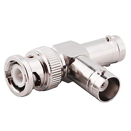 2x BNC T Connector 1 Male to 2 BNC Female CCTV Camera Video Splitter Adapter