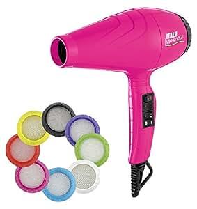 Babyliss Pro - Secador luminoso ionico, 6 ajustes de calor y velocidad, 2100 W, color rosa: Amazon.es: Salud y cuidado personal