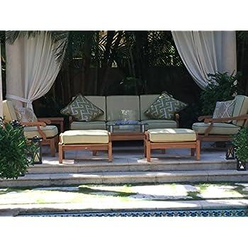 Amazon.com : TeakStation Sack 7Pc 5 Seater Sofa Set:1 Sofa (3 Seat ...