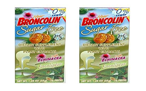 Broncolin Candy Drops- Honey Eucalyptus(Packs of 2)
