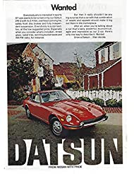 1972 Original Magazine Print Ad #1 Datsun 240-Z