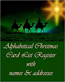 buy alphabetical christmas card list register with names addresses
