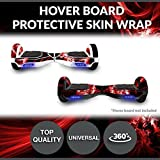 Hoverboard Gold Bluetooth Best Deals - Self Balancing Electric Two Wheel Scooters - Hoverboard Protective Skin Skate Wrap - Balance Scooter Motorized Longboard Stickers Vinyl Decals Real 2 Wheel Protective Cover (Red Swirls)