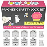 installing kitchen cabinets diy Babbio Magnetic Safety Locks – 8 pack + Free QuickFit Tool to Child Proof any Cabinet, Drawer or Cupboard in just 60 seconds – no drill, tools or screws just peel and stick the lock to keep baby safe