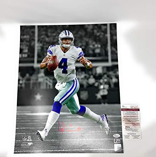 Dak Prescott Dallas Cowboys Signed Autograph 16x20 Photo Photograph Spotlight DAK Player Holo & JSA Witnessed Certified -
