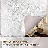 LOCHAS Ultra Soft Fluffy Rugs Faux Fur Sheepskin