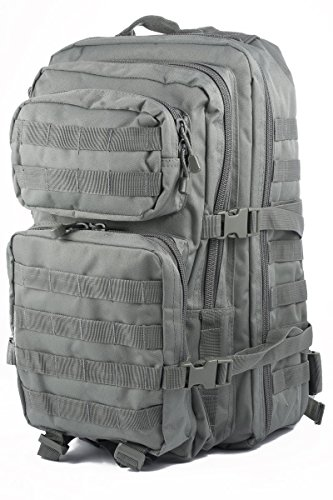 Mil-Tec Military Army Patrol Molle Assault Pack Tactical Combat Rucksack Backpack Bag 36L Foliage Green (Backpack Foliage)