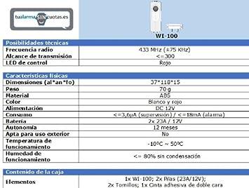 Sensor / Detector de inundación por agua inalámbrico: Amazon.es: Bricolaje y herramientas