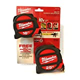 Milwaukee 25 Ft Magnetic Tape Measure & Free 16 Ft Magnetic Tape
