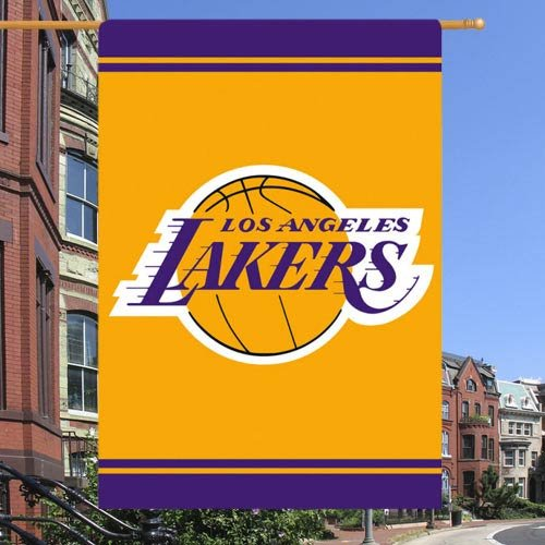 NBA Los Angeles Lakers 28'' x 44'' Double-Sided Team Logo Applique (Nba Applique)