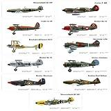Set of 11 The Old Fighter Bookmark Vintage Warplanes Bookmark Best Gifts