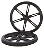 90 x 10mm Black Robot Wheels
