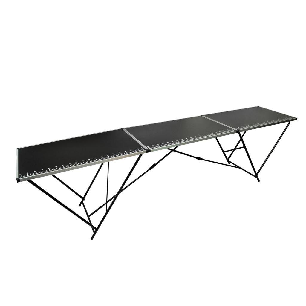 Weilandeal Wall Paper einfügen Tisch Aluminium und Stahl Abmessungen (gefaltet)  100 x 60 x 78 cm rund Tisch rund Tisch