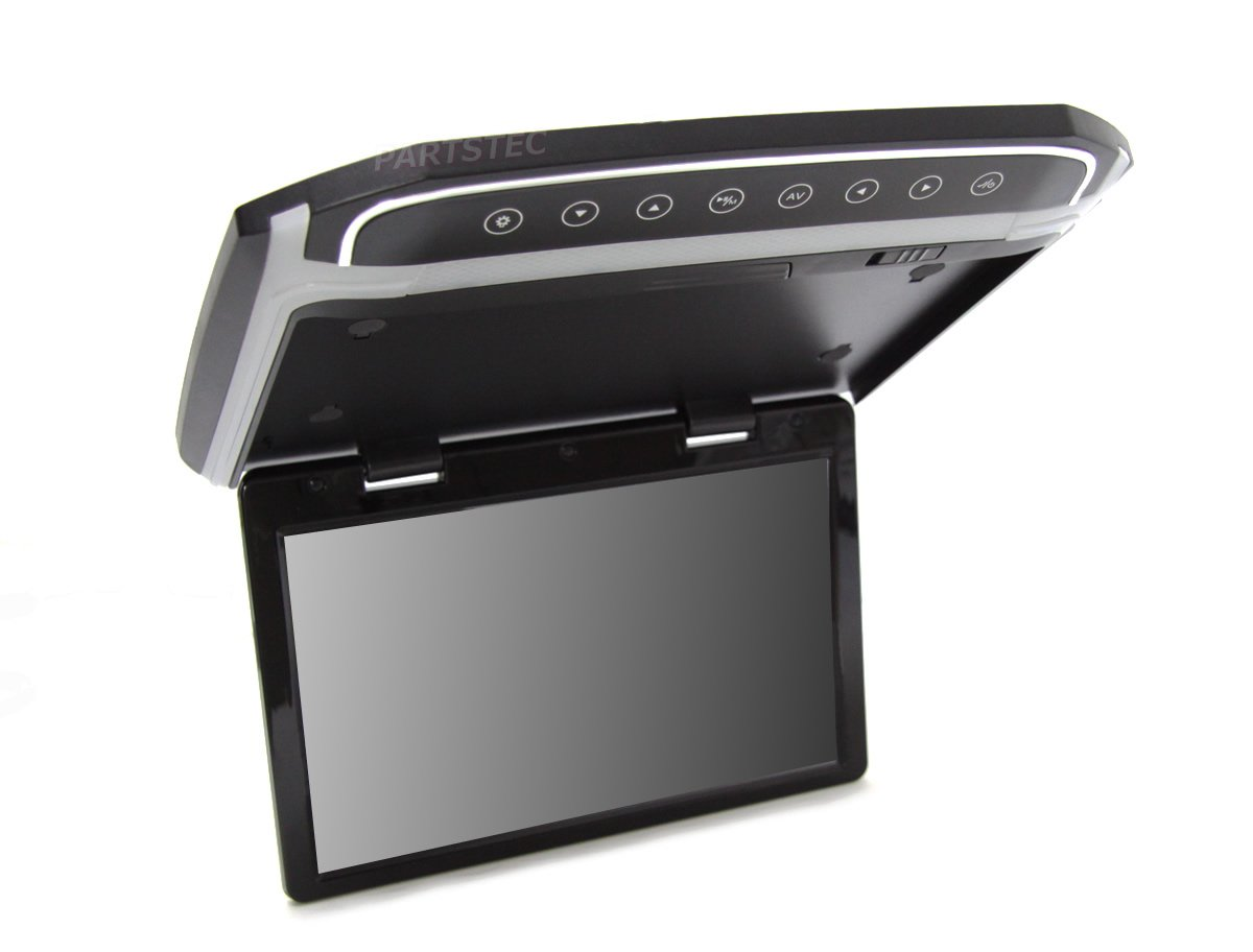 12V 10.2インチ フリップダウンモニター 25mm薄型タイプ Full-HD 高画質 MicroSD/HDMI対応 B0796TTXKY