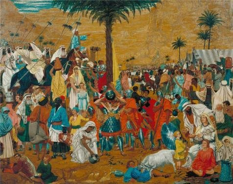Oil Painting 'Richard Dadd - The Flight Out Of Egypt,1849-1850' 20 x 25 inch / 51 x 64 cm , on High Definition HD canvas prints is for Gifts And Bath Room, Nursery And Study Room Decoration