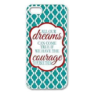 Case For HTC One M7 Cover Hard Back Protective-Unique Design Cute Dreams Walt Disney Quote Case Perfect as Christmas gift(3)