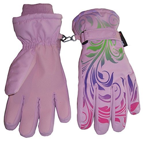 NIce-Caps-Girls-Ombre-Shaded-Waterproof-Thinsulate-Winter-Snow-Ski-Gloves