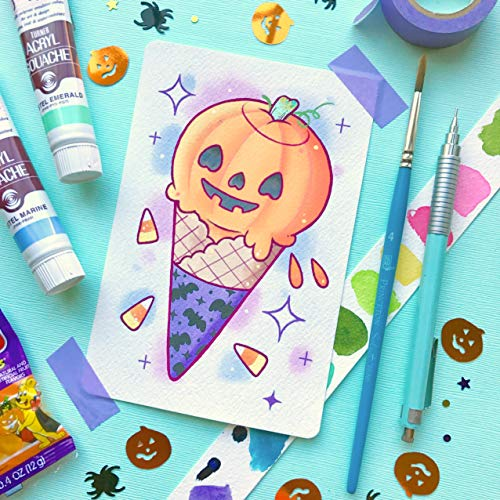 Spooky Kawaii Cute Halloween Pumpkin Ice Cream Cone