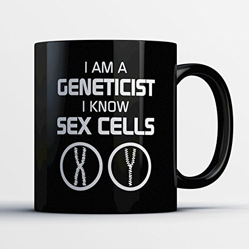 Geneticist Coffee Mug - I Am A Geneticist - Funny 11 oz Black Ceramic Tea Cup - Cute Geneticist Gifts with Geneticist (All Saints Day And Halloween Connection)