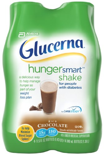 Glucerna Hunger Smart Shake, Rich Chocolate, 11.5 fl. oz., 4 Count
