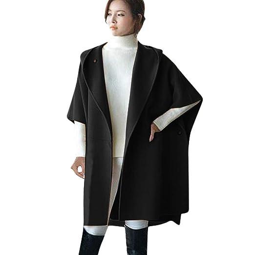 Hoodies & Sweatshirts Cape Loose Warm Batwing Parka Winter Jacket Women Loose Batwing Wool Poncho Winter Warm Coat Jacket Cloak Cape Parka Outwear Sales Of Quality Assurance