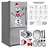 "Image of Fridge Magnet Large 32"" Snowman Magnet Creative Set. Animated Figure. House Decoration Kitchen Fridge, Metal Door, Garage, Classroom, Office,"