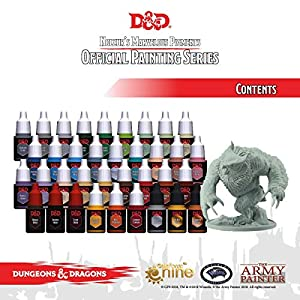 Dungeons and Dragons Official Paint Line Monsters Paint Set