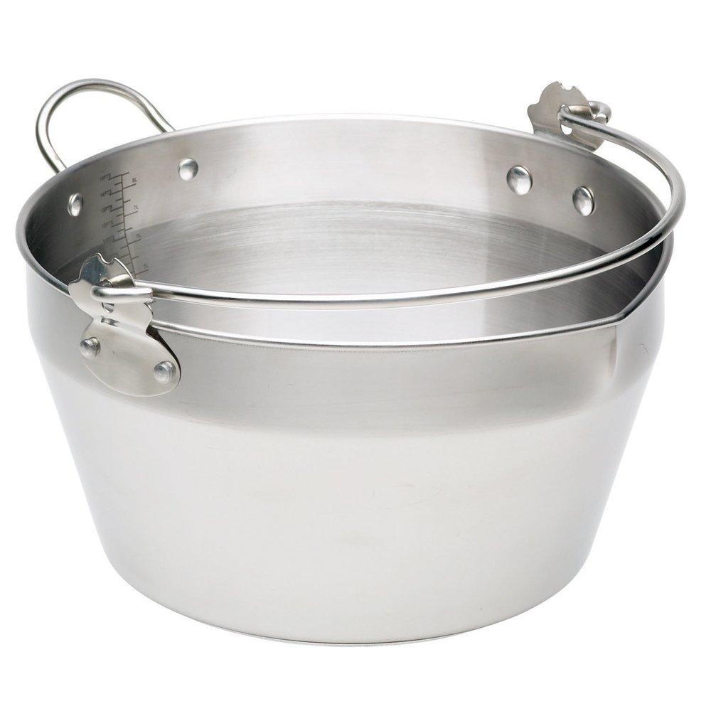 KitchenCraft Stainless Steel Maslin/Jam Preserving Pan, 9 L Kitchen Craft KCMASLINSS Cookware Cookware Sets