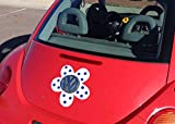 Bling My Bug Magnetic VW Beetle Decal Blue Polka Dot Daisy