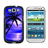 img - for Palm Trees And Sunset Purple - Beach Tropical Ocean - Snap On Hard Protective Case for Samsung Galaxy S3 - Black book / textbook / text book