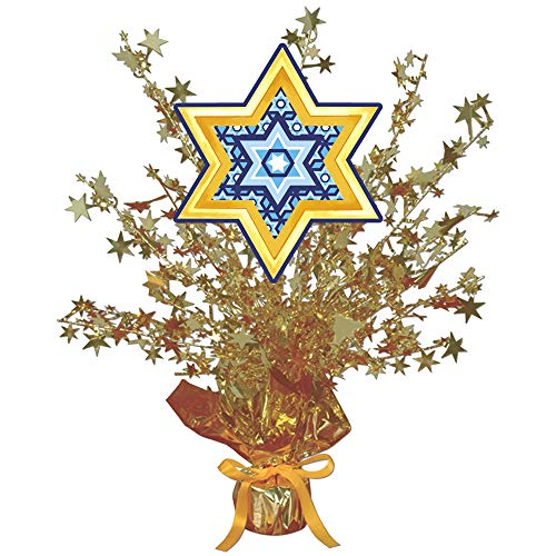 Star of David Centerpiece Gold Star (Each) by Partypro from Partypro