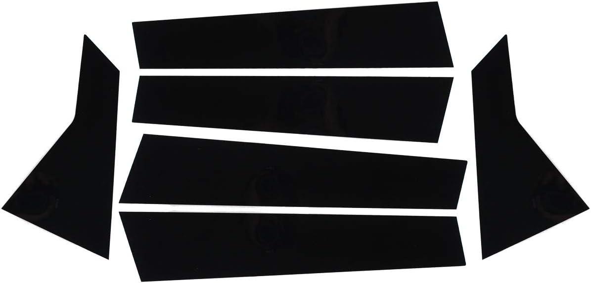 NewYall Glossy Black Door Window Pillar Posts Cover Trim