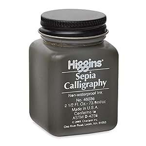 Higgins Sepia Calligraphy Ink 2 5 Oz